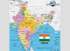 Marco Carnovale Map of India, physical and political