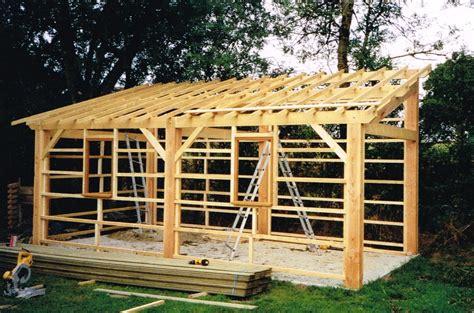 Plan Abri De Jardin 1 Pente abri de jardin mc timonier fabrication charpente en kit
