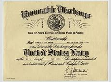 [Don Baker's honorable discharge certificate from the