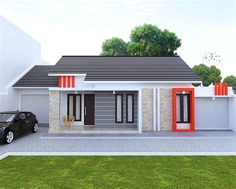 rumah minimalis sederhana type   lantai tampak depan