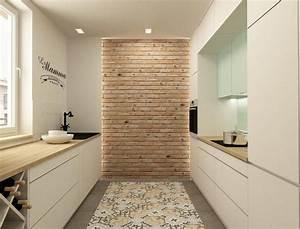 plan de travail cuisine 50 idees de materiaux et couleurs With amazing maison brique et bois 6 le carrelage effet beton en 55 photos inspirantes