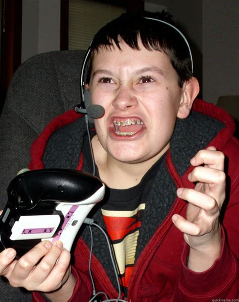 Angry Gamer Kid Meme - angry gamer kid quickmeme