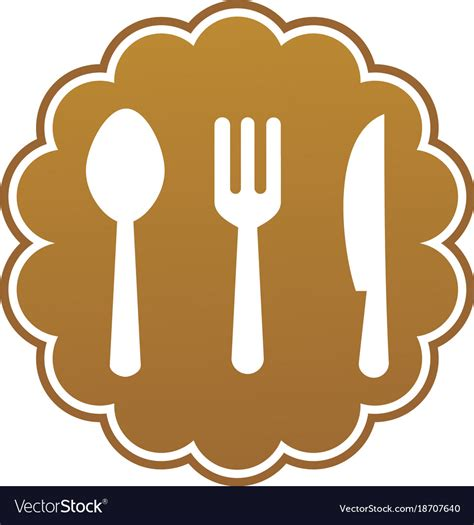 set kitchen logo royalty  vector image vectorstock