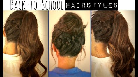 quick  easy hairstyles  school step  step