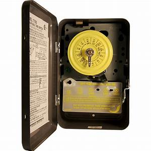 T103 Indoor Time Clock 110v Motor 40a Double Pole Single