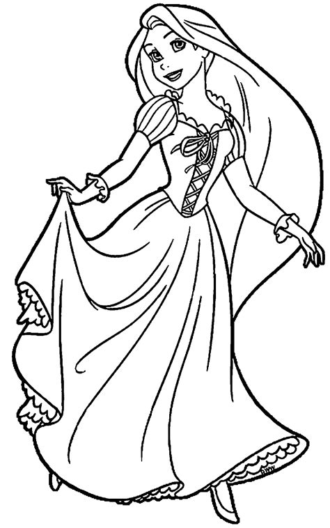 rapunzel  flynn coloring page wecoloringpage