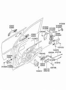2007 Hyundai Tucson Checker Assembly - Front Door Left   Left Hand    Oct  Trim
