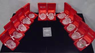 waterford crystal 12 days of christmas annual ornaments mint in boxes ebay