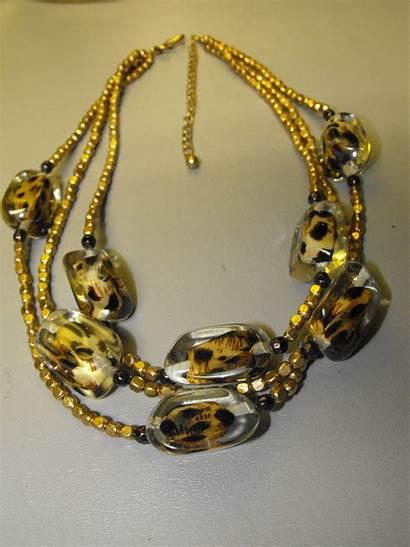 Necklace Acrylic Leopard Chicos Jewelry Unique Clivesuniquejewelry