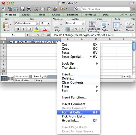 Excel Background Color Ms Excel 2011 For Mac Change The Background Color Of A Cell