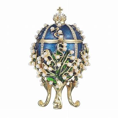 Jewel Egg Faberge Russian Valley Trinket Lilies