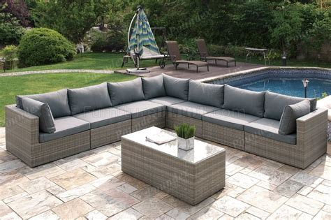 413 outdoor patio 8pc sectional sofa set by poundex w options
