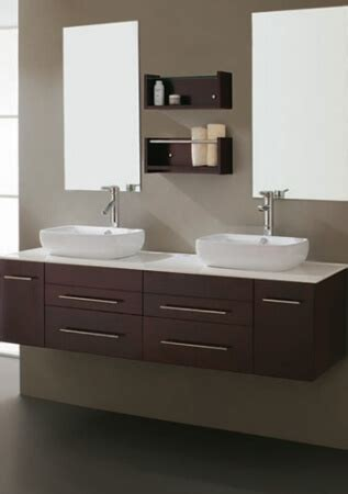 modern espresso double vessel sink bathroom vanity