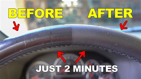 Make Your Shiny Leather Steering Wheel Like New Again