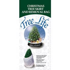shop 46 in white traditional christmas tree disposal bag at lowes com