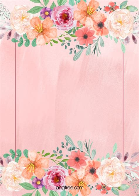 pink floral wedding poster background material pink