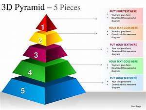 3d pyramid 5 pieces powerpoint presesntation templates