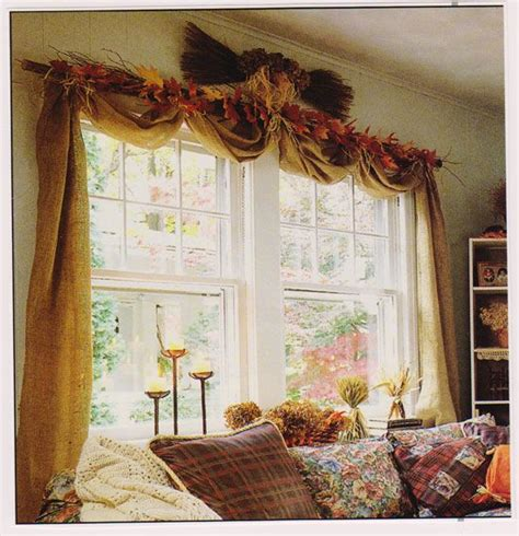 how to make a no sew window treatment autumn window and