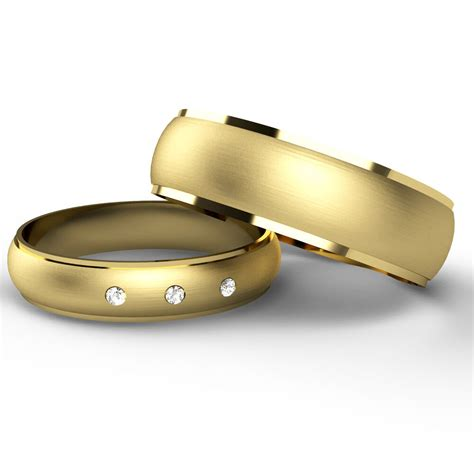 matching wedding rings    ct yellow gold bands