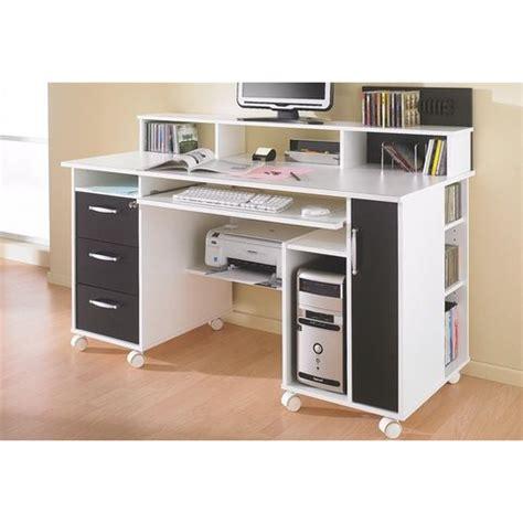 bureau multimedia blanc bureau avec rangement imprimante meilleures images d