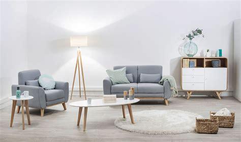 canapé nordique salon bleu scandinave chaios com