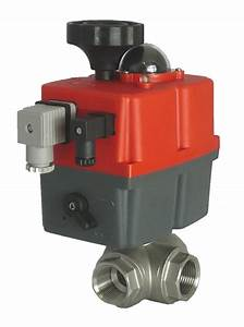 Electric Stainless Steel 3 Way Ball Valve With J J