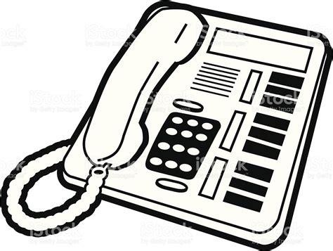 telephone de bureau téléphone de bureau stock vecteur libres de droits