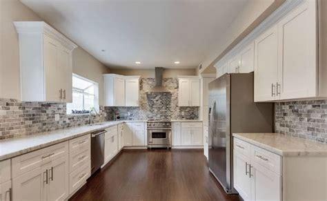 arctic white shaker kitchen cabinets rta kitchen 576 a602fd761fdf14b221d4b26f145b7a03