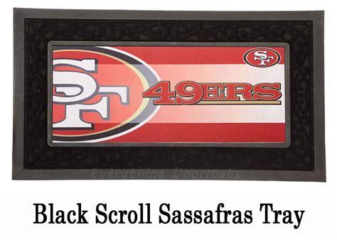 49ers doormat san francisco 49ers sassafras mat 10 x 22 insert doormat
