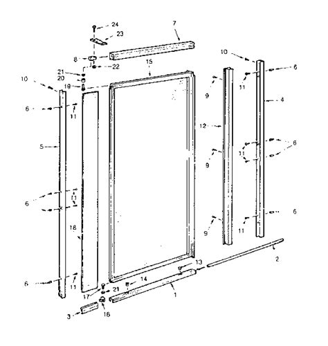 Shower Door Frame Parts - door frame framed shower door parts