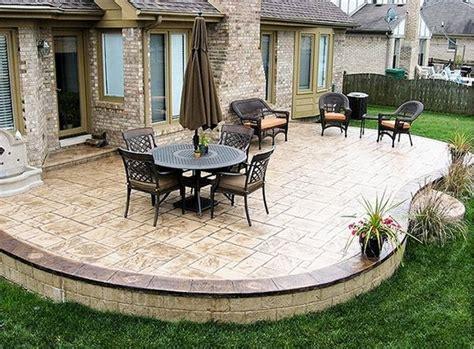 Cement Patio Designs by Sted Concrete Patio Deck Ideas Patio Landscape Outdoor