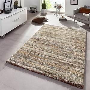 Hochflor Teppich Braun : design teppich hochflor langflor granite braun meliert teppiche hochflor teppiche ~ Orissabook.com Haus und Dekorationen