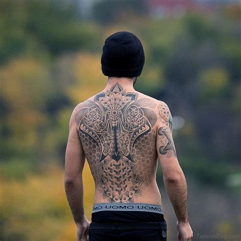69 Great Geometric Tattoo Design On Back