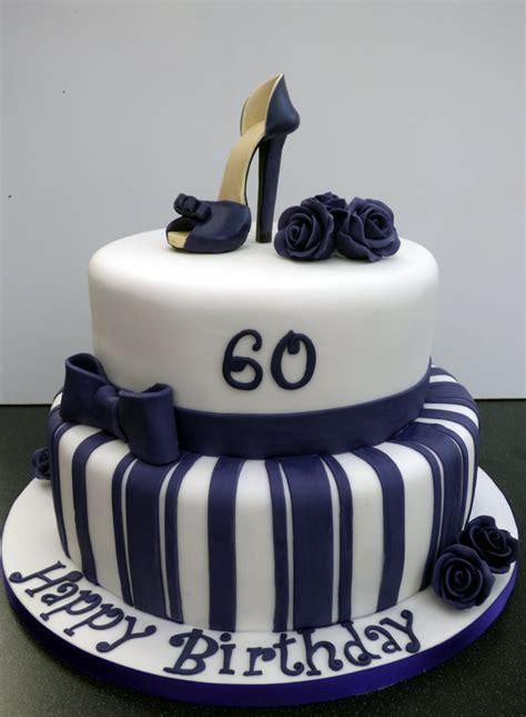 Write name on birthday cake below. Glamorous 2 Tier 60th Birthday Cake with a Stiletto Shoe « Susie's Cakes