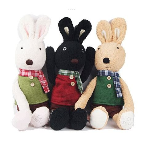 bstaofy dropshipping 45cm le sucre rabbit dolls stuffed plush toys bunny with sweater best gifts