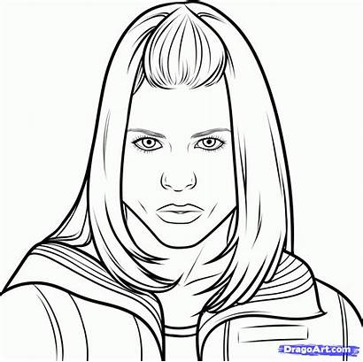 Doctor Rose Tyler Draw Step Coloring Pages