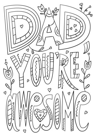 dad youre awesome coloring page  printable coloring pages