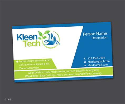 elegant modern residential business card design