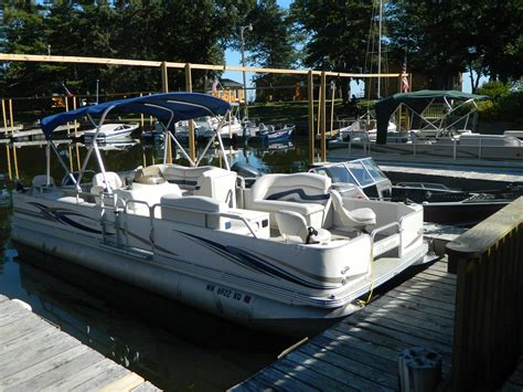 Mini Pontoon Boats Minnesota by Boat Rentals Big Rock Resort Leech Lake Minnesota