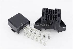 6 Way Auto Fuse Box Assembly With Terminals Dustproof Fuse Box Fuse Box Mounting Fuse Box