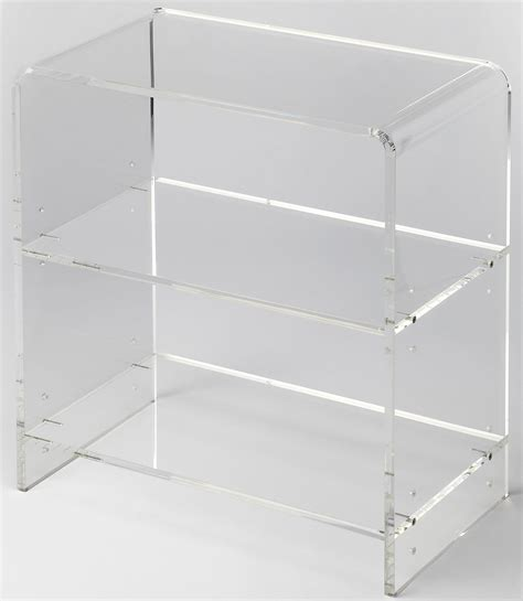 acrylic bookcase crystal clear acrylic bookcase 3611335 butler