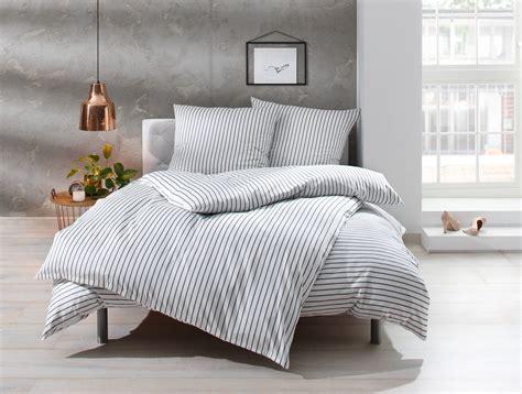 Bettwäsche Weiß Grau