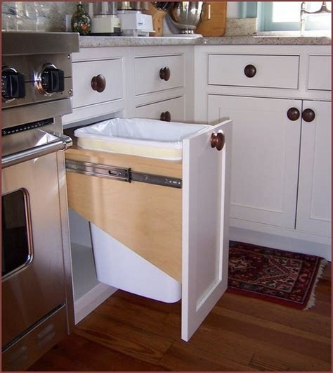 kitchen garbage cans in cabinet kitchen garbage cans in cabinet home design ideas 8105