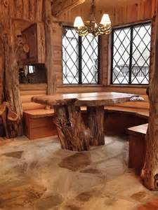 dining room table arrangements cedar log breakfast nook after rustic dining room by