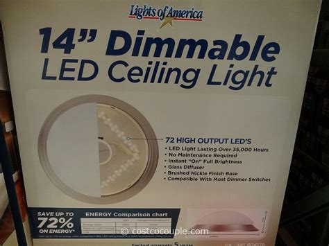 lights of america 14 inch dimmable led ceiling light