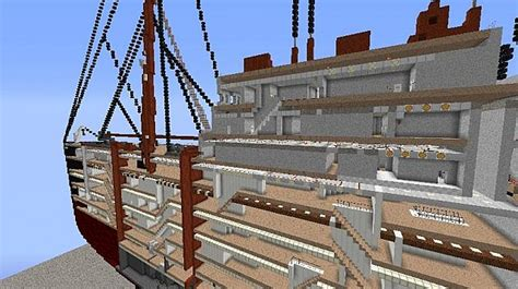 rms lusitania inside minecraft project
