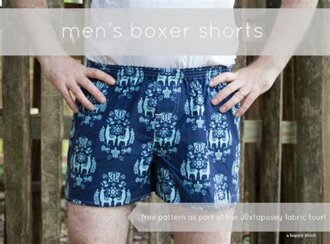 Men's Boxer Shorts [free Pattern + Juxaposey Llama Fabric