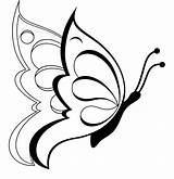 Coloring Pages Butterfly Printable Butterflies Colouring Sheet Clipart Drawing Drawings Flowers Flower Cute Outline Pencil sketch template