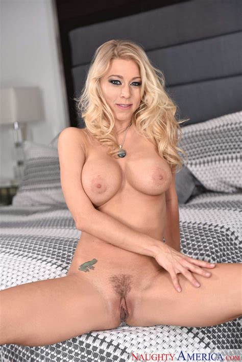 Katie Morgan In Sexy Lingerie And Black High Heels Poses