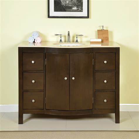 """Choose from a wide selection of great styles and finishes. Silkroad Exclusive Kimberly 48"""" Single Bathroom Vanity Set ..."""
